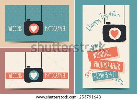 Creative business card photographer - stock vector