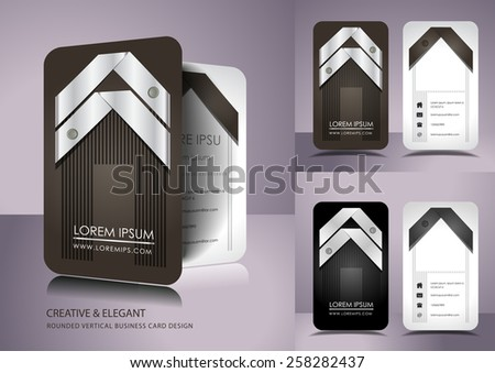 Creative business card set - stock vector