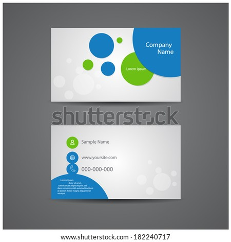 creative business cards. - stock vector