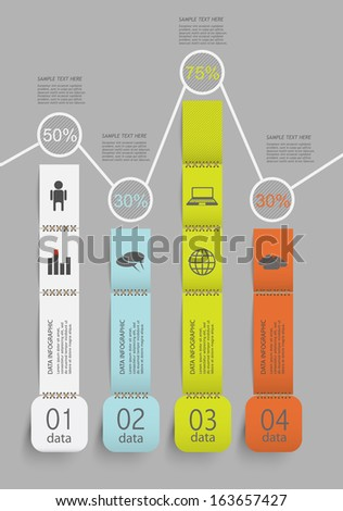 creative business infographic with your data - stock vector