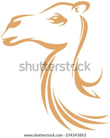 Creative Camel Illustration - stock vector