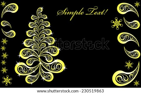 Creative Christmas tree from the Golden drops sparks - stock vector