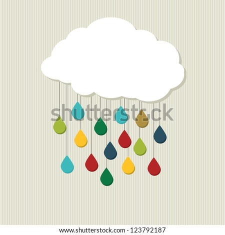 Creative cloud. abstract vector design - stock vector