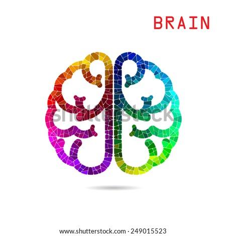 Creative colorful left brain and right brain Idea concept background. Vector illustration - stock vector