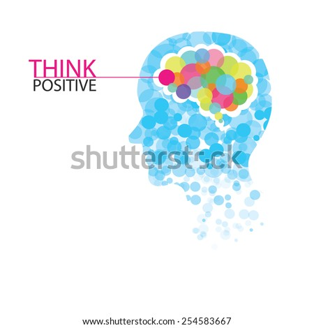 Creative colorful left brain and right brain Idea concept background .vector illustration contains gradient mesh - stock vector