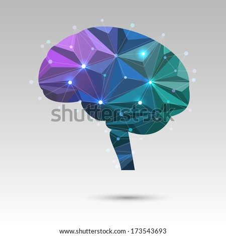 Creative concept of the brain, eps10 vector - stock vector