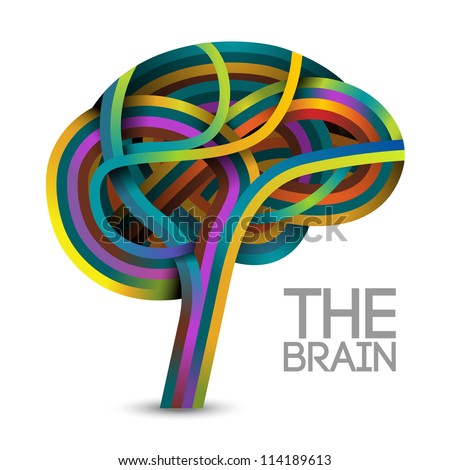 Creative concept of the human brain, vector - stock vector