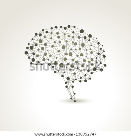 Creative concept of the human brain, vector illustration - stock vector