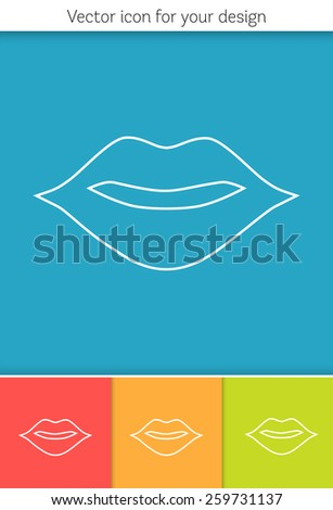 Creative concept vector icon of mouth for Web and Mobile Applications isolated on background. Art illustration creative template design, Business software and social media. - stock vector