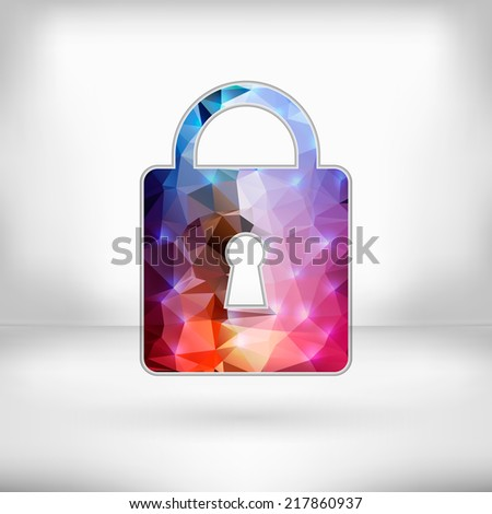 Creative concept vector icon of padlock for Web and Mobile Applications. Vector illustration creative template design, Business software and social media. - stock vector