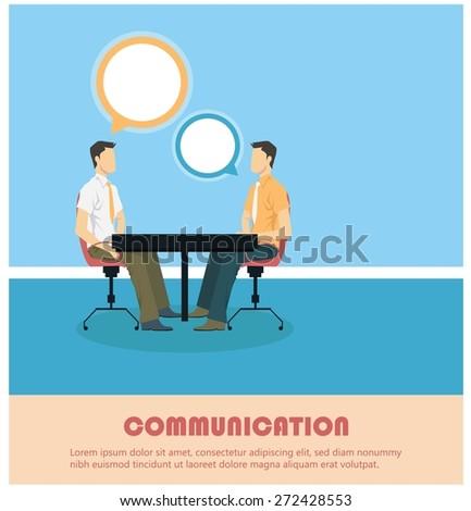 Creative conversation concept - stock vector