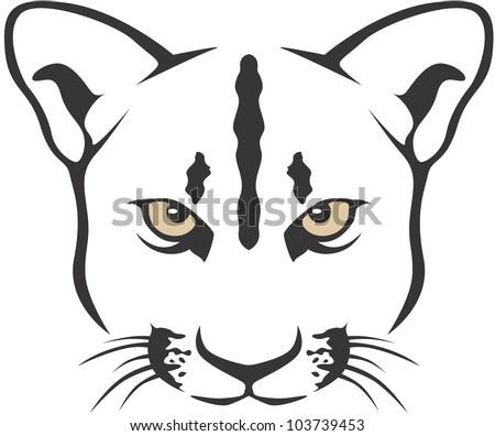Creative Cougar Illustration - stock vector