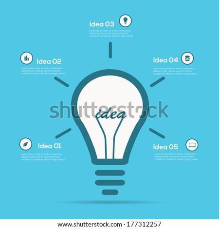 Creative design Infographic light bulb - stock vector