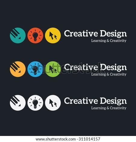 Creative Design logo,idea logo,leraning logo,school logo,kids,children logo,Vector Logo template. - stock vector