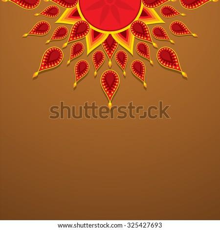 creative diwali greeting design vector - stock vector