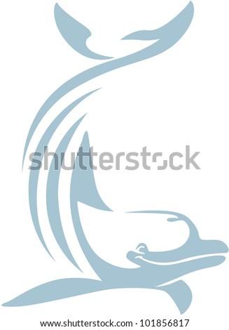 Creative Dolphin Illustration - stock vector