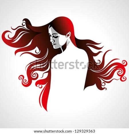 creative fashion women portrait - stock vector