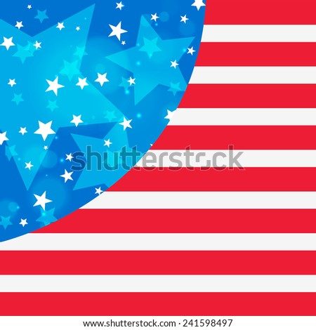 Creative flag design of United State of America for Presidents Day celebration. - stock vector