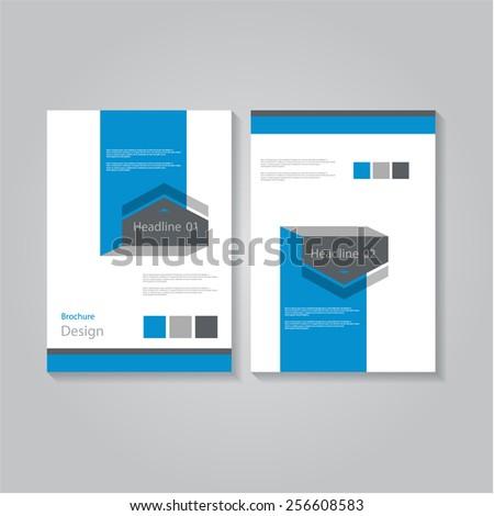 Creative flat arrows brochure / flyer / banner design, eps10 Vector. - stock vector