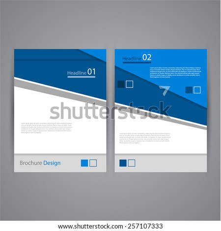 Creative flat brochure / flyer / banner design, eps10 Vector - stock vector