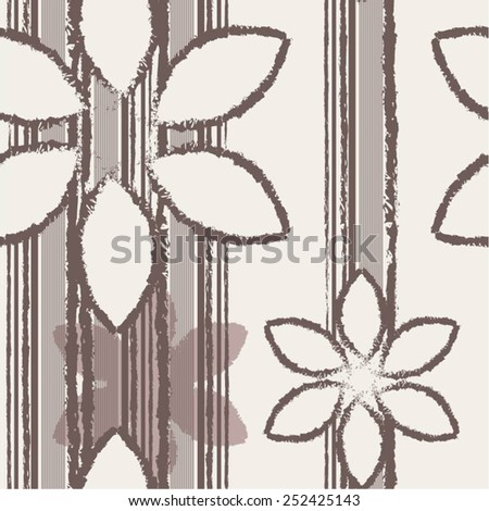 Creative floral pattern, seamless vector background. - stock vector