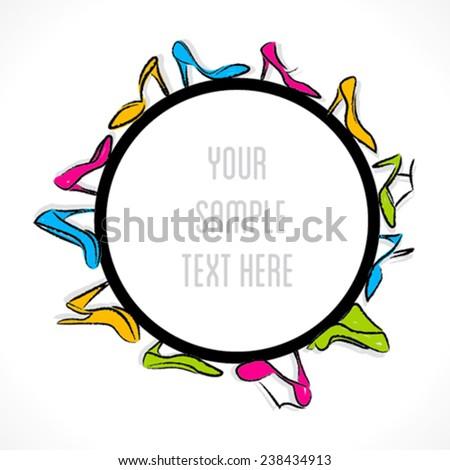 creative footwear label design vector - stock vector