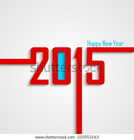 Creative 2015 for new year - stock vector