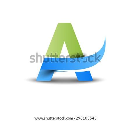Creative Graphic Alphabet ( A ) Design Vector - stock vector