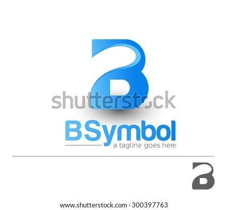 Creative Graphic Alphabet ( B ) Design Vector - stock vector