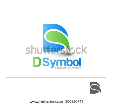 Creative Graphic Alphabet ( D ) Design Vector - stock vector