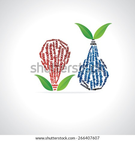 creative green concept bulb with hand  - stock vector