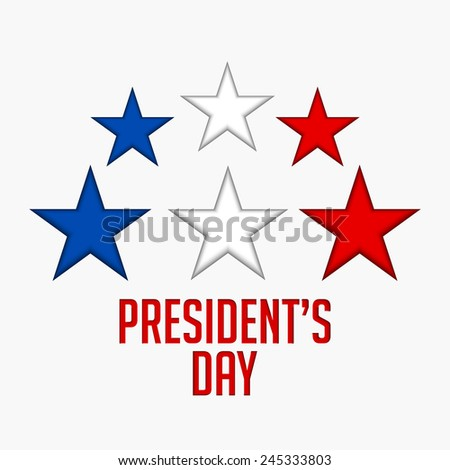 Creative group of star Abstract for president day  - stock vector