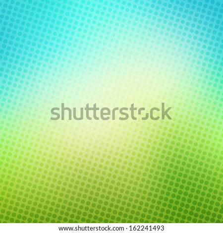 creative halftone in green blue background vector - stock vector