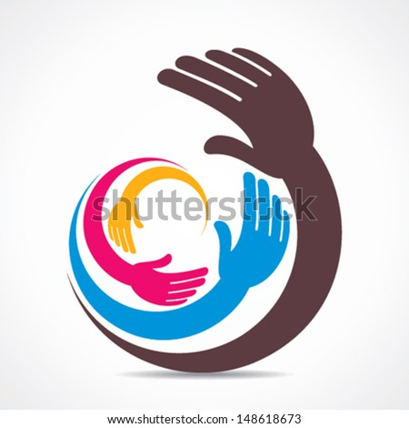 creative hand icon design vector - stock vector