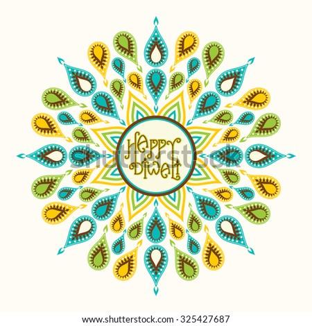 creative happy diwali festival greeting card design vector - stock vector