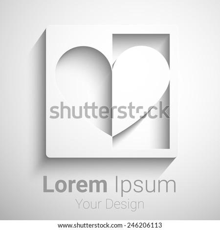 Creative heart shape vector logo design template. Eps10 vector for your design - stock vector