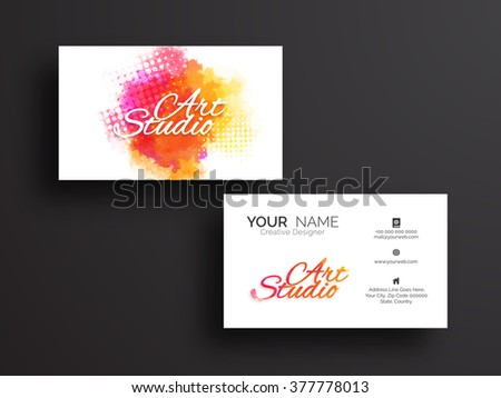 Creative horizontal Business Card, Visiting Card or Name Card set with front and back presentation.  - stock vector