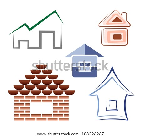 Creative house icons - stock vector