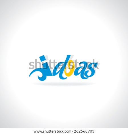creative idea concept with eye  - stock vector