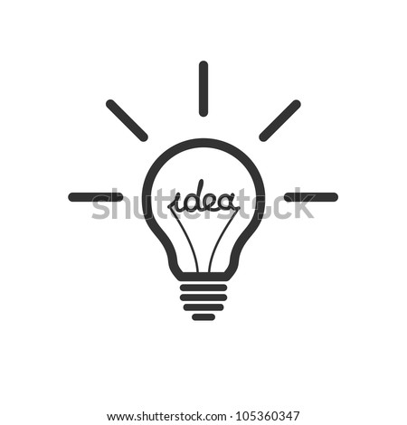 Creative idea in bulb shape as inspiration concept. Vector design element. - stock vector