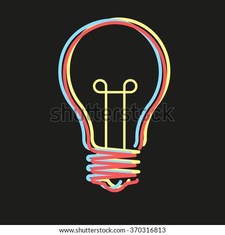 Creative idea in bulb shape. Inspiration concept. - stock vector