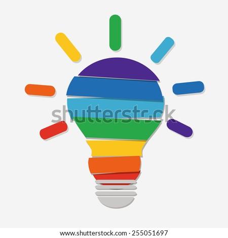Creative idea, vector - stock vector