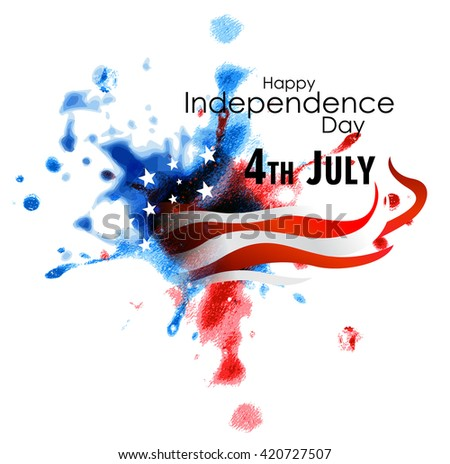 Creative illustration American Flag colors, Design Vector Illustration greeting card for 4th of July, Independence Day celebration. - stock vector