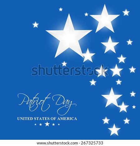Creative illustration of Patriot Day with nice and creative blue colour background with white colour multiple star. - stock vector