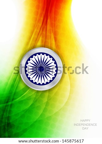 creative Indian flag theme background design in wave style. vector illustration - stock vector