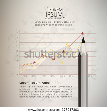 Creative infographic layout with statistical graph showing Business Growth. - stock vector