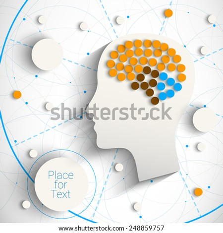 Creative infographic template with humn head. Eps10 vector  for your design - stock vector