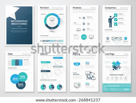 Creative infographic vector concept. Business graphics brochures. Used for workflow layout, diagram, number options, step up options, web template, infographics, websites, brochures, flyers and print. - stock vector