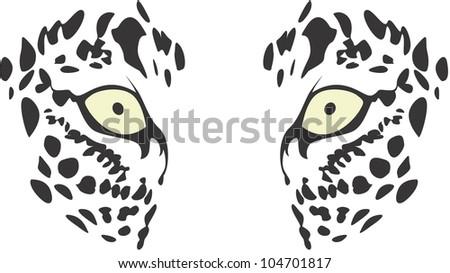 Creative Leopard Eyes Illustration - stock vector