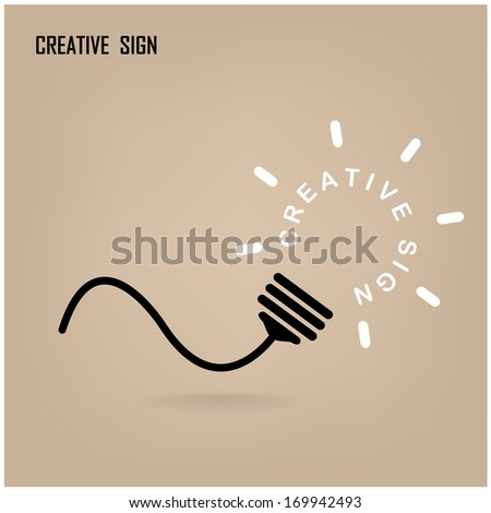 Creative light bulb Idea concept background design for poster flyer cover brochure ,business dea ,abstract background.vector illustration - stock vector